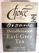 CHOICE ORGANIC TEAS: Decaffeinated Earl Grey 16 bag
