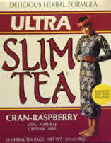 HOBE LABS: Ultra Slim Tea Cran-Raspberry 24 bags