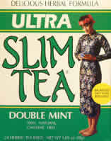Hobe labs: Ultra slim tea double mint 24 bags