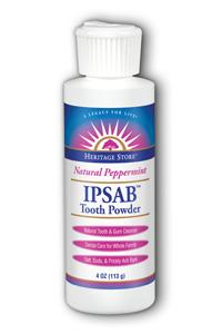 HERITAGE PRODUCTS: Ipsab Tooth Powder Peppermint 4 oz