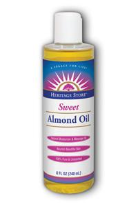 HERITAGE PRODUCTS: Sweet Almond Oil 8 fl oz