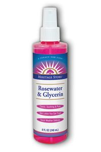 HERITAGE PRODUCTS: Rosewater and Glycerin w Atomizer 8 oz