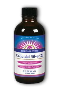 Heritage products: Colloidal silver 20ppm 3 oz