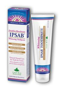 HERITAGE PRODUCTS: Ipsab Whitening Toothpaste 4.23 oz