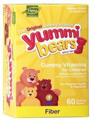 YUMMI BEARS (HERO NUTRITIONAL PRODUCTS): Yummi Bears Fiber 60 bears
