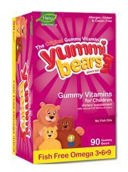 YUMMI BEARS (Hero Nutritional Products): Yummi Bears Fish Free Omega-3 With Chia seed 90 bears