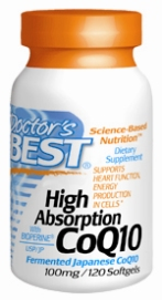 Doctors Best: High Absorption CoQ10 100mg 120 SoftGels