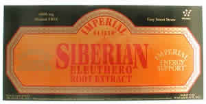 IMPERIAL ELIXIR/GINSENG COMPANY: Siberian Eleuthero Extract Vials 30x10ml
