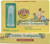 JASON NATURAL PRODUCTS: Earth's Best Toddler Toothpaste Strawberry & Banana 1.6 oz