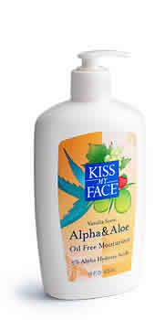KISS MY FACE: Moisturizer Alpha+Aloe (Oil Free) Vanilla With AHA 5% 16 oz