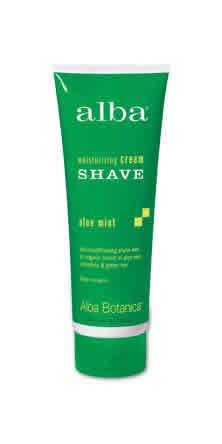 ALBA BOTANICA: Moisturizing Cream Shave Aloe Mint 8 fl oz
