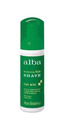 ALBA BOTANICA: Moisturizing Foam Shave Aloe Mint 5 fl oz