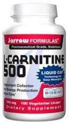 JARROW: L-Carnitine Liquid Cap 500 MG 100 CAPS