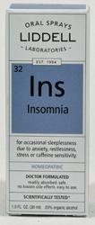LIDDELL HOMEOPATHIC: Insomnia Spray 1 oz