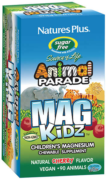 Natures Plus: Animal Parade Magnesium Kidz Chewable 90 tabs Natural Cherry Flavor