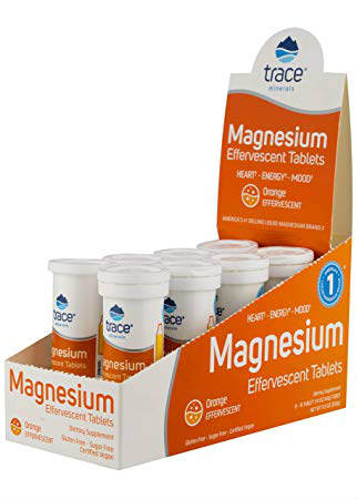 Trace Minerals Research: Magnesium Effervescent Tablets Display Box 8 Tubes