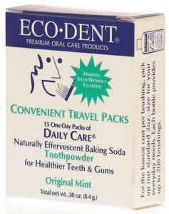 ECODENT: Toothpowder 15-Day Travel Pack Mint 15 pkts