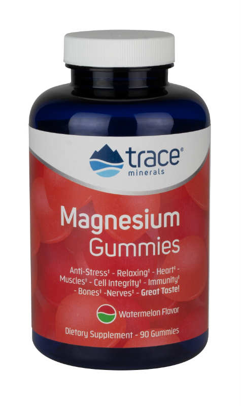 Magnesium Gummies Watermelon 120ct from Trace Minerals Research
