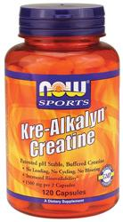 NOW: Kre-Alkalyn Creatine 750mg 120 Caps