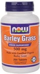 NOW: BARLEY GRASS 500mg ORG  250 TABS 250 TABS