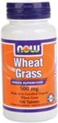 NOW: WHEAT GRASS 500mg ORGANIC  100 TABS 1