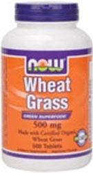 NOW: WHEAT GRASS 500mg ORG  500 TABS 1