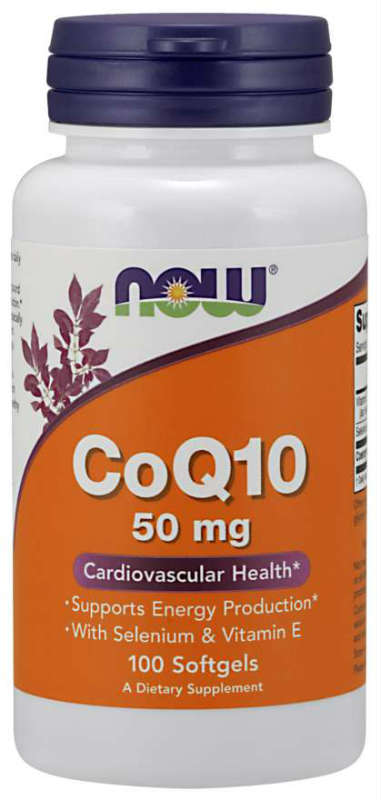 CoQ10 50mg Plus VIT E  100 SGELS, 100 SOFTGELS