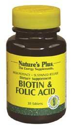 Natures Plus: BIOTIN  FOLIC ACID S  R 30 30 ct