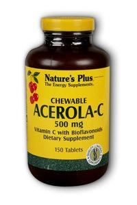Natures Plus: ACEROLA-C COMPLEX CHEWABLE 500 MG 150 150 ct