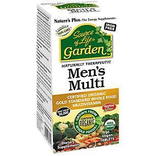 Natures Plus: Garden or Life Mens Once Daily Multi Tablet Vegan 90 tabs