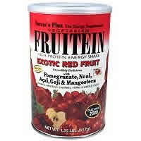 Natures Plus: Fruitein Exotic Red Fruit Shake Single Serving Packets 8 pk