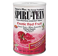 Natures Plus: EXOTIC RED FRUIT SPIRUTEIN SHAKE 1.1 LB 1.1 pound US