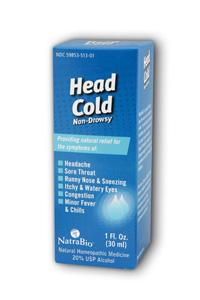 Natra-bio/botanical labs: Head cold relief 1 fl oz