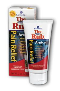 NATRA-BIO/BOTANICAL LABS: Arnica Cream 'The Rub' 2 oz