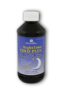NATRA-BIO/BOTANICAL LABS: Nighttime Cold Plus 8 oz