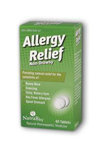 NATRA-BIO/BOTANICAL LABS: Allergy Relief 60 tabs