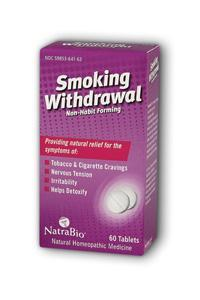 NATRA-BIO/BOTANICAL LABS: Smoking Withdrawal 60 tabs