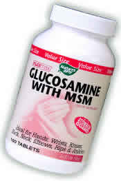 NATURE'S WAY: Glucosamine & MSM 80 tabs