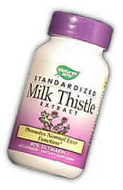 NATURE'S WAY: Milk Thistle Standardized Extract 120 vegicaps