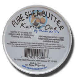 MODE DE VIE/GLOBAL NATURAL PRODUCTS: Karite-One 100 Percent Pure Shea Butter 4 oz