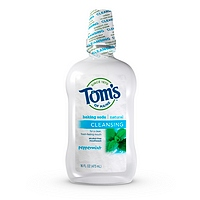 TOM'S OF MAINE: Cleansing Peppermint Baking Soda Mouthwash 16 oz