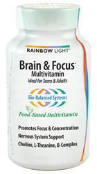 RAINBOW LIGHT: BRAIN FOCUS MULTIVITAMIN 90T