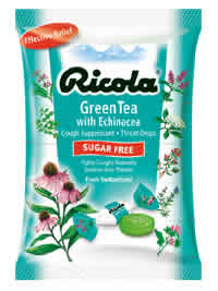 Cough Drops Echinacea and Green Tea Sugar Free 3 oz bag from RICOLA