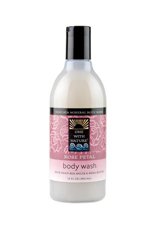 ONE WITH NATURE: Rose Petal Body Wash 12 OZ