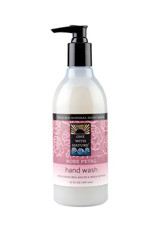 ONE WITH NATURE: Rose Petal Hand Wash 12 OZ