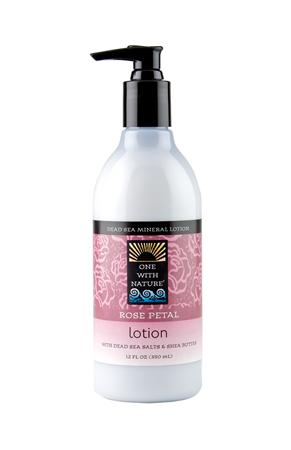 ONE WITH NATURE: Rose Petal Lotion 12 OZ