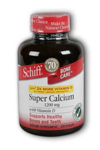 SCHIFF/BIO FOODS: Super Calcium 1200mg 120 softgels