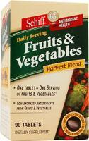 Schiff/bio foods: Fruits & vegetables 90 tabs
