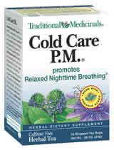 TRADITIONAL MEDICINALS TEAS: Cold Care PM Tea 16 bags
