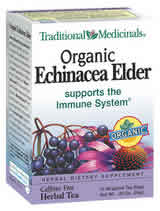 TRADITIONAL MEDICINALS TEAS: Organic Echinacea Elder Tea 16 bags